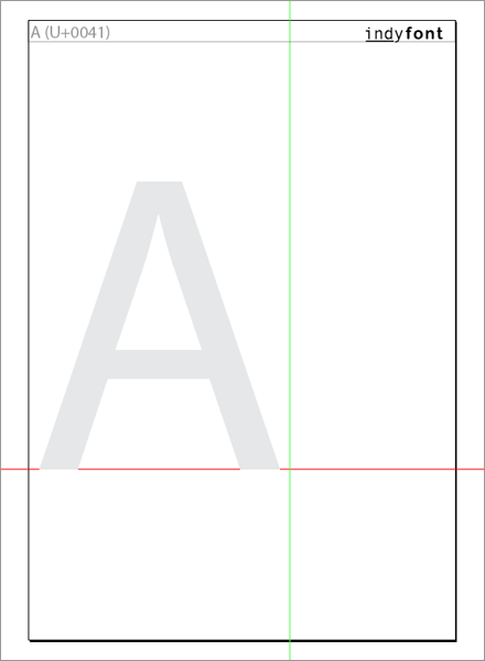 Template Page for the letter A.