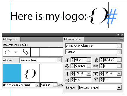 The new font is now available in InDesign.
